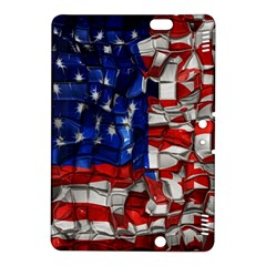 American Flag Blocks Kindle Fire Hdx 8 9  Hardshell Case