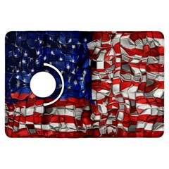 American Flag Blocks Kindle Fire Hdx 7  Flip 360 Case