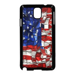 American Flag Blocks Samsung Galaxy Note 3 Neo Hardshell Case (black)