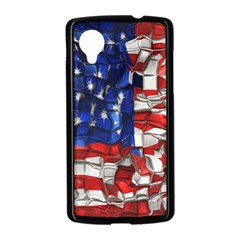 American Flag Blocks Google Nexus 5 Case (Black)