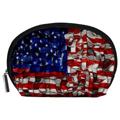 American Flag Blocks Accessory Pouch (Large)