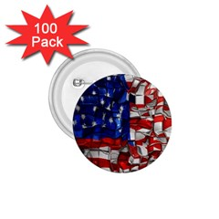 American Flag Blocks 1.75  Button (100 pack)