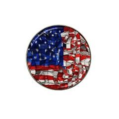 American Flag Blocks Golf Ball Marker 10 Pack (for Hat Clip)