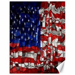 American Flag Blocks Canvas 18  x 24  (Unframed)