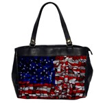 American Flag Blocks Oversize Office Handbag (One Side) Front