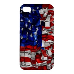 American Flag Blocks Apple Iphone 4/4s Hardshell Case