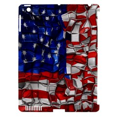 American Flag Blocks Apple Ipad 3/4 Hardshell Case (compatible With Smart Cover)