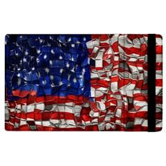 American Flag Blocks Apple Ipad 3/4 Flip Case
