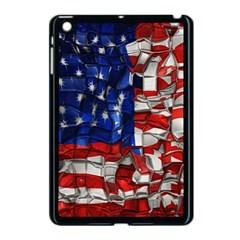 American Flag Blocks Apple Ipad Mini Case (black)