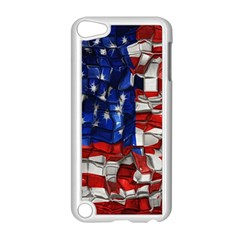 American Flag Blocks Apple iPod Touch 5 Case (White)