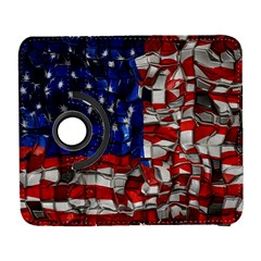 American Flag Blocks Samsung Galaxy S  Iii Flip 360 Case