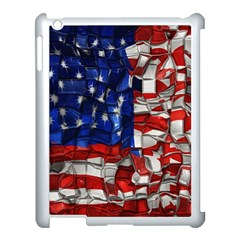American Flag Blocks Apple Ipad 3/4 Case (white)