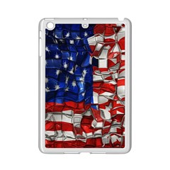 American Flag Blocks Apple iPad Mini 2 Case (White)
