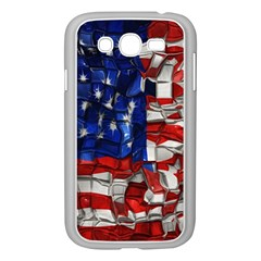 American Flag Blocks Samsung Galaxy Grand DUOS I9082 Case (White)