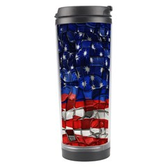 American Flag Blocks Travel Tumbler