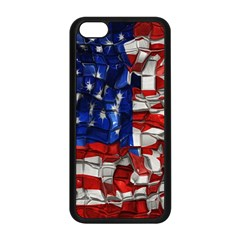American Flag Blocks Apple Iphone 5c Seamless Case (black)