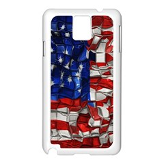 American Flag Blocks Samsung Galaxy Note 3 N9005 Case (white)