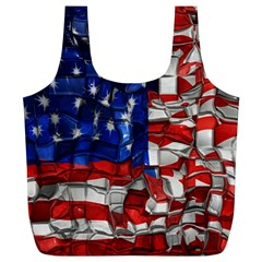 American Flag Blocks Reusable Bag (xl)
