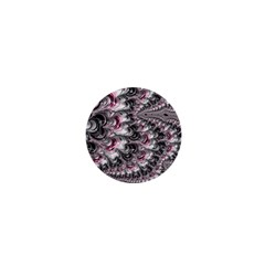 Black Red White Lava Fractal 1  Mini Button