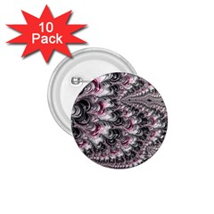Black Red White Lava Fractal 1.75  Button (10 pack)