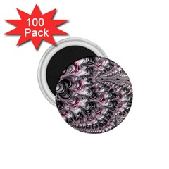 Black Red White Lava Fractal 1.75  Button Magnet (100 pack)