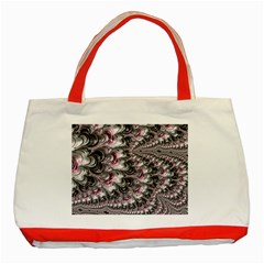 Black Red White Lava Fractal Classic Tote Bag (Red)