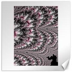 Black Red White Lava Fractal Canvas 16  X 16  (unframed)