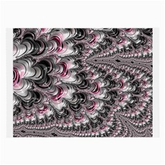 Black Red White Lava Fractal Glasses Cloth (Large, Two Sided)