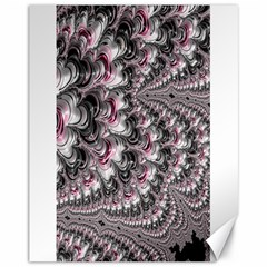Black Red White Lava Fractal Canvas 11  x 14  (Unframed)