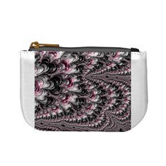 Black Red White Lava Fractal Coin Change Purse