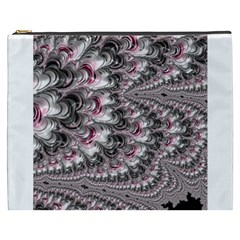 Black Red White Lava Fractal Cosmetic Bag (XXXL)