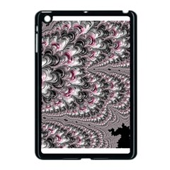 Black Red White Lava Fractal Apple Ipad Mini Case (black)