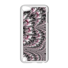 Black Red White Lava Fractal Apple Ipod Touch 5 Case (white)