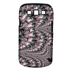 Black Red White Lava Fractal Samsung Galaxy S III Classic Hardshell Case (PC+Silicone)