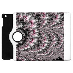 Black Red White Lava Fractal Apple Ipad Mini Flip 360 Case