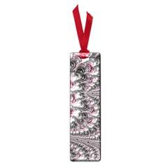 Black Red White Lava Fractal Small Bookmark