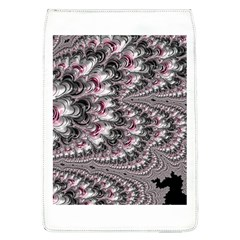 Black Red White Lava Fractal Removable Flap Cover (large)