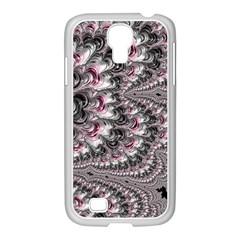 Black Red White Lava Fractal Samsung GALAXY S4 I9500/ I9505 Case (White)