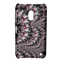 Black Red White Lava Fractal Nokia Lumia 620 Hardshell Case