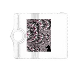 Black Red White Lava Fractal Kindle Fire HDX 8.9  Flip 360 Case