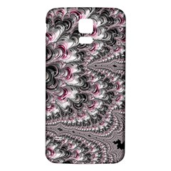 Black Red White Lava Fractal Samsung Galaxy S5 Back Case (White)