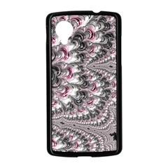 Black Red White Lava Fractal Google Nexus 5 Case (Black)