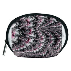 Black Red White Lava Fractal Accessory Pouch (medium)