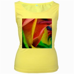 Rainbow Roses 16 Women s Tank Top (Yellow)