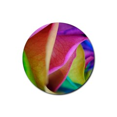 Rainbow Roses 16 Drink Coasters 4 Pack (round)