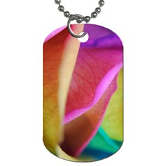 Rainbow Roses 16 Dog Tag (two Sided)