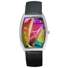 Rainbow Roses 16 Tonneau Leather Watch