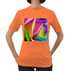 Rainbow Roses 16 Women s T Shirt (colored)