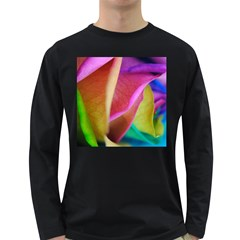 Rainbow Roses 16 Men s Long Sleeve T-shirt (Dark Colored)