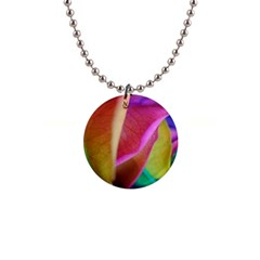 Rainbow Roses 16 Button Necklace